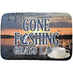 Gone Fishing Dish Drying Mat (Personalized)