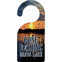 Gone Fishing Door Hanger (Personalized)