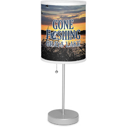 """Gone Fishing 7"""" Drum Lamp with Shade (Personalized)"""