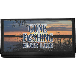 Gone Fishing Canvas Checkbook Cover (Personalized)