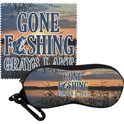 Gone Fishing Eyeglass Case & Cloth (Personalized)
