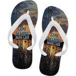 Gone Fishing Flip Flops (Personalized)