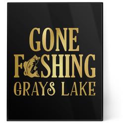 Hunting / Fishing Quotes and Sayings 8x10 Foil Wall Art - Black (Personalized)