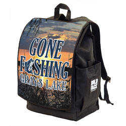 Gone Fishing Backpack w/ Front Flap (Personalized)