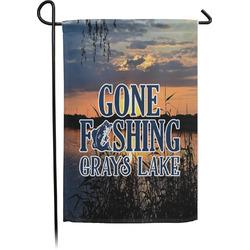 Gone Fishing Single Sided Garden Flag (Personalized)