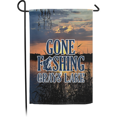 Gone Fishing Garden Flag - Single or Double Sided (Personalized)