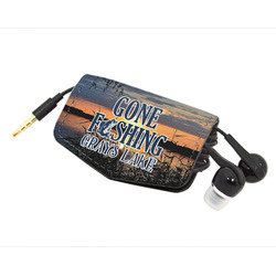 Gone Fishing Genuine Leather Cord Wrap (Personalized)
