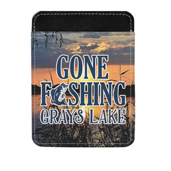 Gone Fishing Genuine Leather Money Clip (Personalized)