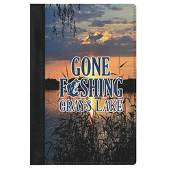 Gone Fishing Genuine Leather Passport Cover (Personalized)
