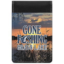 Gone Fishing Genuine Leather Small Memo Pad (Personalized)