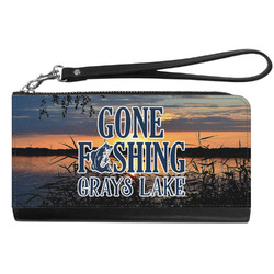 Gone Fishing Genuine Leather Smartphone Wrist Wallet (Personalized)