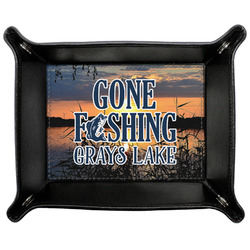Gone Fishing Genuine Leather Valet Tray (Personalized)