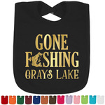 Hunting / Fishing Quotes and Sayings Foil Baby Bibs (Select Foil Color) (Personalized)