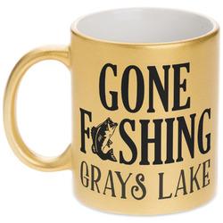 Hunting / Fishing Quotes and Sayings Gold Mug (Personalized)