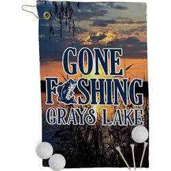 Gone Fishing Golf Towel - Full Print (Personalized)