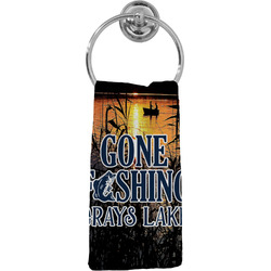 Gone Fishing Hand Towel - Full Print (Personalized)