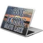 Gone Fishing Laptop Skin - Custom Sized (Personalized)