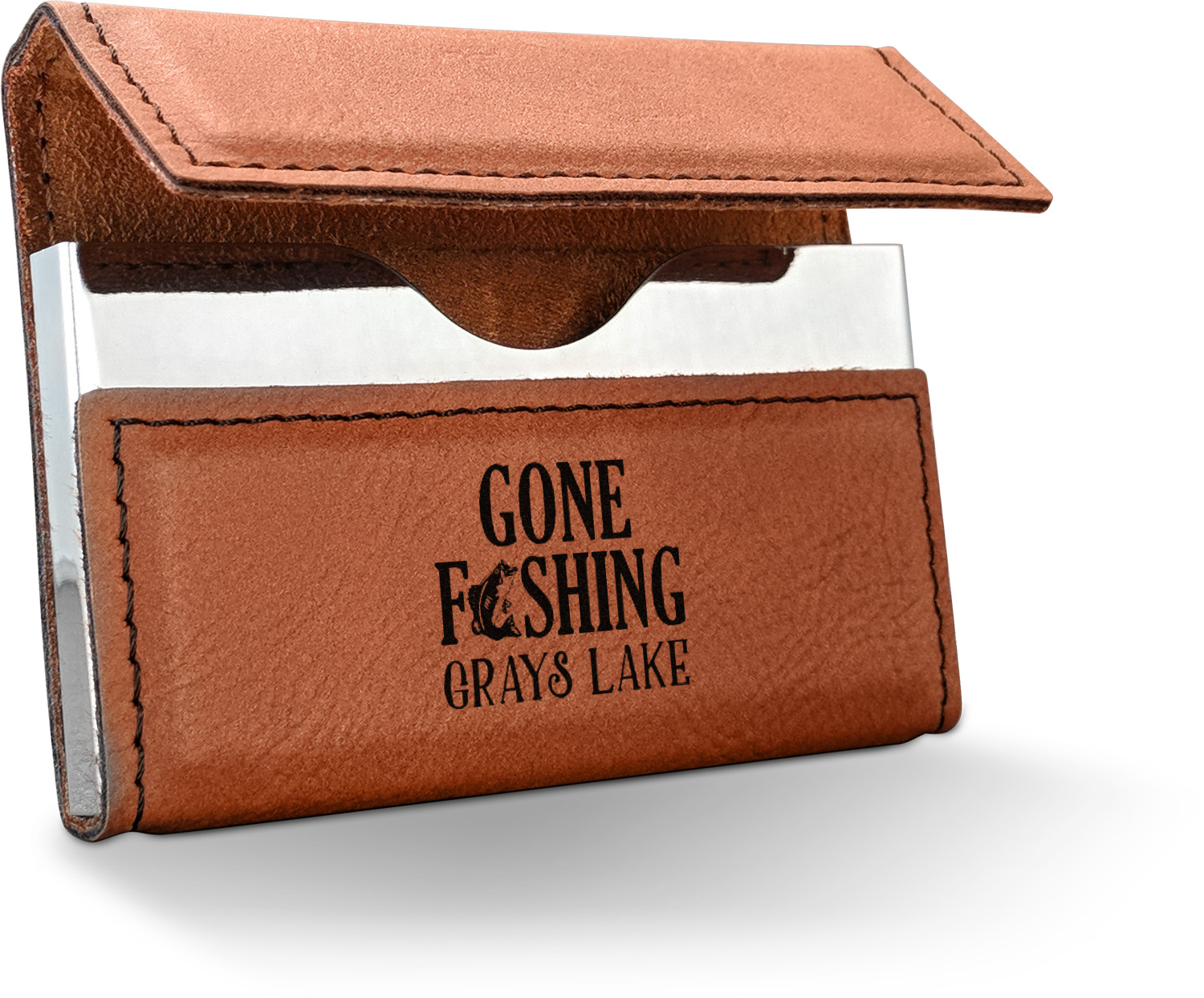 Hunting fishing quotes and sayings leatherette business card hunting fishing quotes and sayings leatherette business card holder personalized colourmoves
