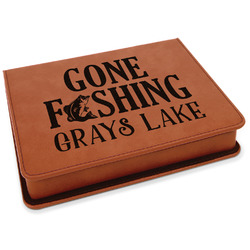 Gone Fishing Leatherette 4-Piece Wine Tool Set (Personalized)