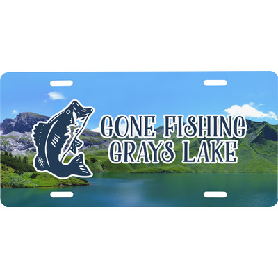 Gone Fishing Front License Plate (Personalized)