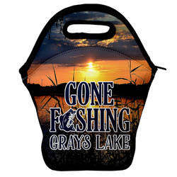 Gone Fishing Lunch Bag w/ Photo