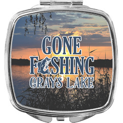 Gone Fishing Compact Makeup Mirror (Personalized)