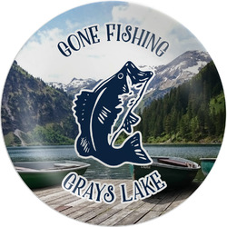Gone Fishing Melamine Plate (Personalized)
