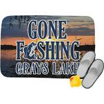 Gone Fishing Memory Foam Bath Mat (Personalized)