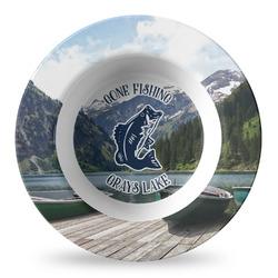 Gone Fishing Plastic Bowl - Microwave Safe - Composite Polymer (Personalized)