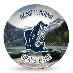 Gone Fishing Microwave Safe Plastic Plate - Composite Polymer (Personalized)
