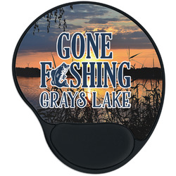 Gone Fishing Mouse Pad with Wrist Support