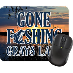 Gone Fishing Rectangular Mouse Pad (Personalized)