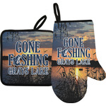Gone Fishing Oven Mitt & Pot Holder (Personalized)