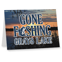 Gone Fishing Notecards (Personalized)