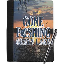 Gone Fishing Notebook Padfolio - Large (Personalized)