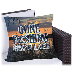 Gone Fishing Outdoor Pillow (Personalized)