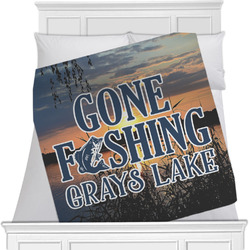 Gone Fishing Minky Blanket (Personalized)