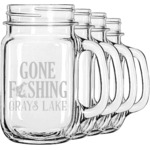 Hunting Quotes and Sayings Mason Jar Mugs (Set of 4) (Personalized)