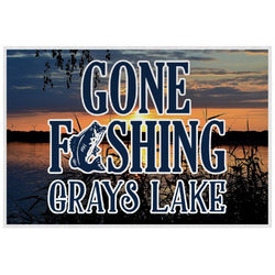 Gone Fishing Laminated Placemat w/ Photo