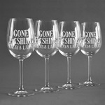 Hunting / Fishing Quotes and Sayings Wine Glasses (Set of 4) (Personalized)
