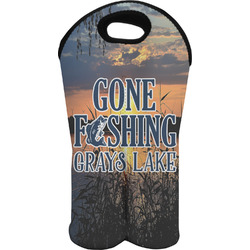 Gone Fishing Wine Tote Bag (2 Bottles) (Personalized)