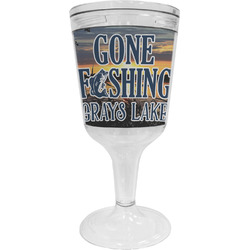 Gone Fishing Wine Tumbler - 11 oz Plastic (Personalized)