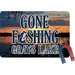 Gone Fishing Rectangular Fridge Magnet (Personalized)