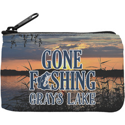 Gone Fishing Rectangular Coin Purse (Personalized)