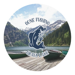 Gone Fishing Round Decal (Personalized)