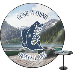 Gone Fishing Round Table (Personalized)