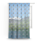 Gone Fishing Sheer Curtains (Personalized)