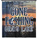 Gone Fishing Shower Curtain (Personalized)