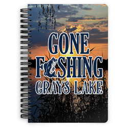 Gone Fishing Spiral Bound Notebook (Personalized)