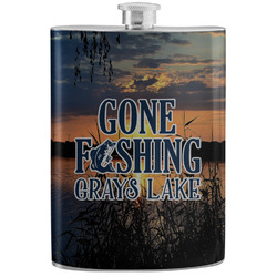 Gone Fishing Stainless Steel Flask (Personalized)